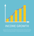 income growth visual graphic on promotional banner vector image vector image