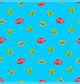 kiss cool stickers youth seamless pattern vector image vector image