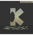 Letter K Broken mirror vector image vector image