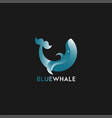 logotype in with whale element vector image