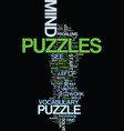 mind puzzles that bust the brain text background vector image vector image