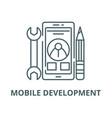 mobile development line icon linear vector image vector image