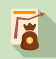 money bag management icon flat style vector image vector image