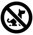 no fouling dog forbidden sign modern round sticker vector image vector image