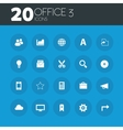 Office 3 icons on round blue buttons vector image vector image