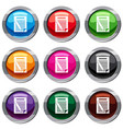 paper and pencil set 9 collection vector image vector image
