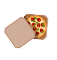 paper box with pizza on a white background vector image vector image