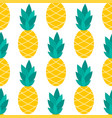 pineapple seamless pattern on white vector image vector image