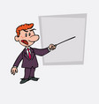red hair businessman points out angry with a vector image vector image