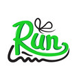 running shoe symbol on white background trainers vector image vector image