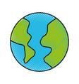 scribble world cartoon vector image vector image
