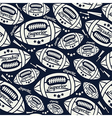 Seamless pattern rugby vector image vector image