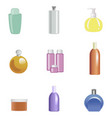 set of body care products isolated on white vector image vector image