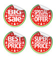 set of christmas sale stickers vector image vector image