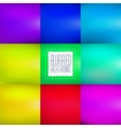 Smooth abstract colorful blurred vector image