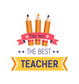 teachers day isolated icon school worker vector image vector image