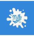 Test In Splash Milk Product Logo vector image