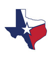 texas tx state flag map vector image