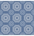 The lace pattern on blue background vector image vector image