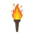 torch isolated on white background fire symbol vector image
