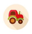tractor icon farmer machine vector image