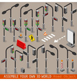 Urban Traffic Management Set Isometric vector image