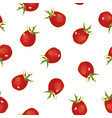 white pattern with red tomato vector image