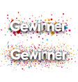 Winner paper banners vector image vector image