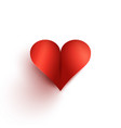 with a red heart shape vector image vector image