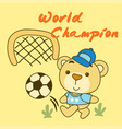 world champion cartoon vector image
