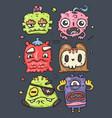 set of cute monsters vector image