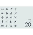 Set of picnic icons vector image