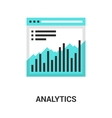 analytics icon concept vector image vector image