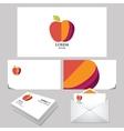 Apple unusual Logo branding mock up vector image vector image