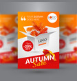 autumn sale flyer template with box vector image vector image