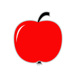 Big red apple Card vector image