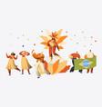brazil carnival samba dancer character party vector image vector image
