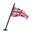 british flag on pole vector image