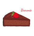 brownie chocolate pie cupcake pastry vector image vector image