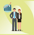 business people worker financial economy money vector image