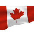 canada flag isolated on white background vector image