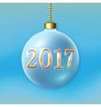Christmas ball isolated vector image vector image