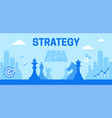 colourful of strategy as a tool vector image vector image