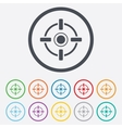 Crosshair sign icon Target aim symbol vector image vector image