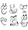 different emotions on human face vector image vector image