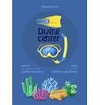 Dive center design diving mask snorkel flippers