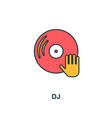 dj icon creative 2 colors design fromdj icon from vector image