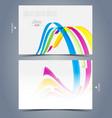 Elegant visit card template design vector image