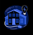 energy-plus house abstract concept vector image vector image