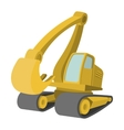 Excavator cartoon icon vector image
